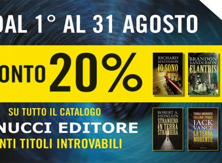 """Dal 1 al 31 agosto il catalogo Fanucci Editore al 20% di sconto e 50 titoli """"introvabili"""" nella collana Numeri Uno!"""