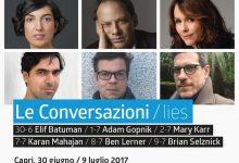 Le Conversazioni 2017_dal 30 giugno torna a Capri il festival della letteratura internazionale